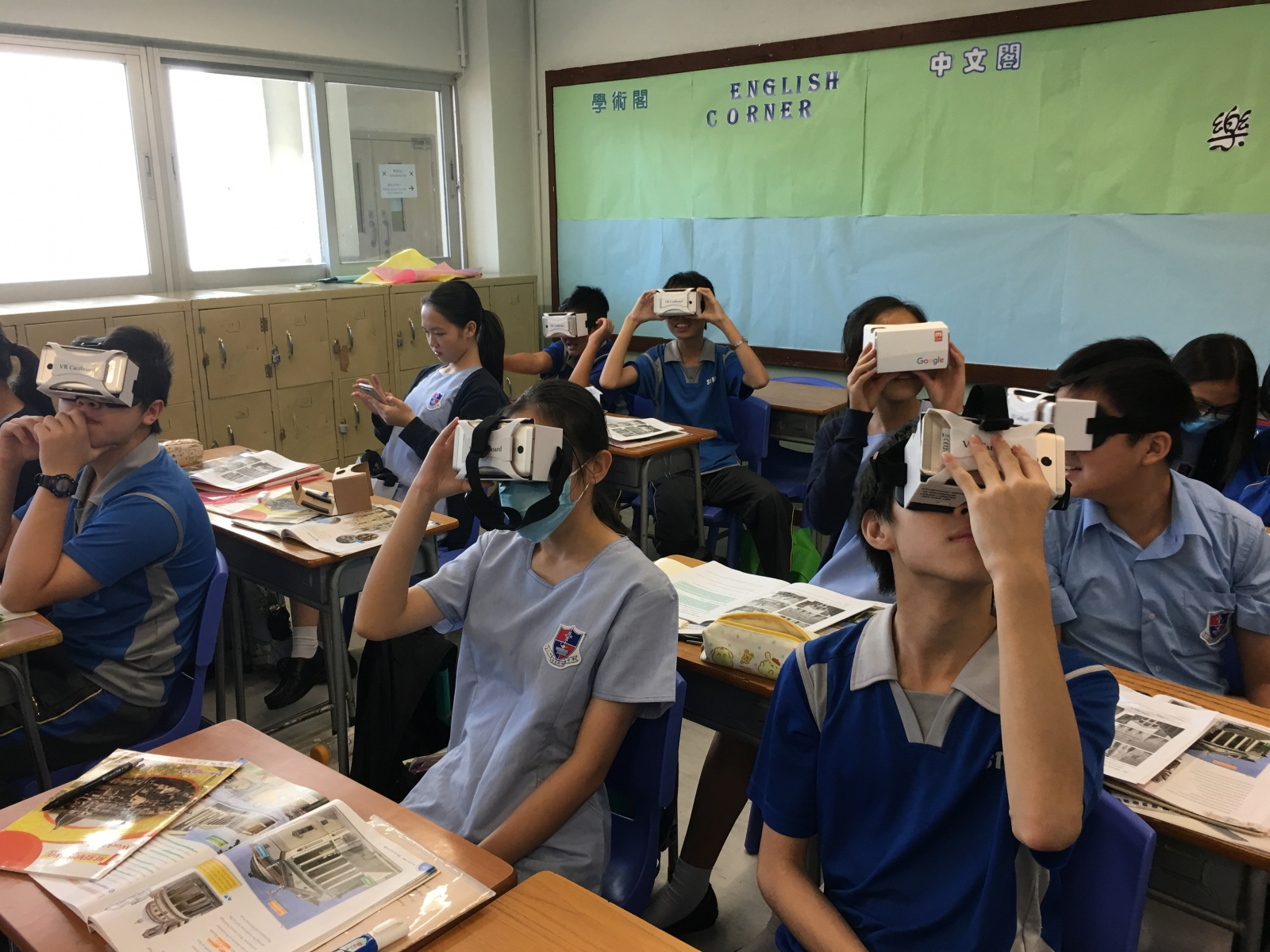 透過VR,同學彷如能穿越時空,「歷史」從此更真實%u3002