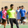 A Friendly Football Match Between Teachers and Students